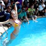 Valeria Ortega y su piscinazo (Vídeo)